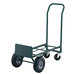 """Hand Truck - 48"""" x 22"""" - 10"""" Pnuematic Tires w/Wheel Guards"""