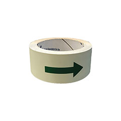"Photoluminescent Multipurpose Adhesive Tape w/Directional Arrows - 1-1/4"" x 50'"