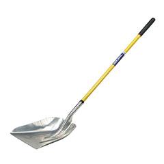 "Scoop Shovel Aluminum Heads - 51"" Fiberglass Cushioned Grip Handle - General Purpose"