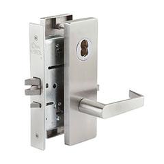 SKILCRAFT® Door Locks Mortise MR Series - Privacy F22 - MR 176 - Philadelphia