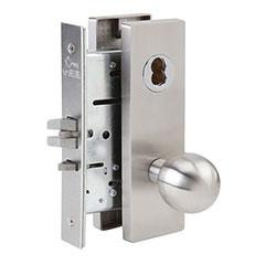 SKILCRAFT® Door Locks Mortise MR Series - Classroom Hold-Back F06 - MR 113 - Ball Knob