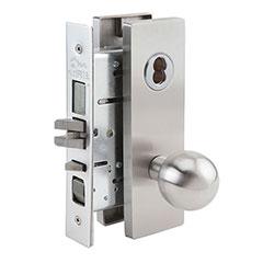 SKILCRAFT® Door Locks Mortise MR Series - Front Door / Apartment / Corridor F08 - MR 117 - Ball Knob