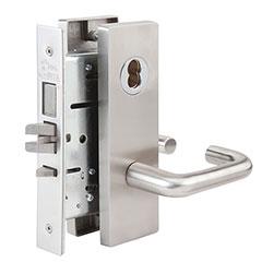 SKILCRAFT® Door Locks Mortise MR Series - Store Door F14 - MR 137 - Ball Knob