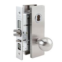 SKILCRAFT® Door Locks Mortise MR Series - Dormitory F11 - MR 158 - Ball Knob