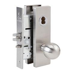 SKILCRAFT® Door Locks Mortise MR Series - Entrance Storeroom F21 - MR 135 - Ball Knob