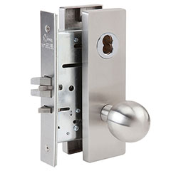 SKILCRAFT® Door Locks Mortise MR Series - Storeroom F07 - MR 115 - Ball Knob