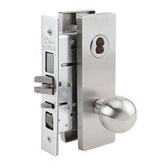SKILCRAFT® Door Locks Mortise MR Series - Entry F04 - MR 116 - Ball Knob