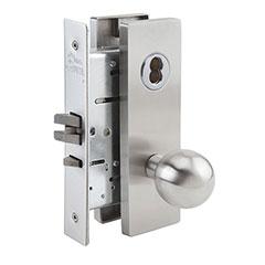 SKILCRAFT® Door Locks Mortise MR Series - Passage F01 - MR 126 - Ball Knob