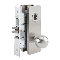 SKILCRAFT® Door Locks Mortise MR Series - Dormitory Exit F13 - MR 136 - Ball Knob
