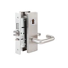 SKILCRAFT® Door Locks Mortise MR Series - Dormitory Exit F13 - MR 136 - Dallas