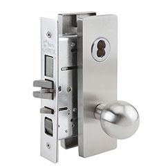 SKILCRAFT® Door Locks Mortise MR Series - Entrance F - N/A - MR 154 - Ball Knob