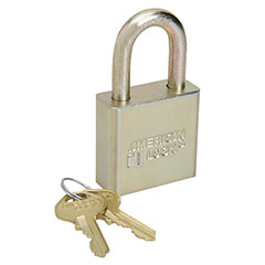 """SKILCRAFT® Solid Steel and Solid Brass Case Padlocks - 1-1/8"""" - Keyed Different"""