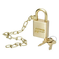 "SKILCRAFT® Solid Steel and Solid Brass Case Padlocks - 1"" - Master Keyed"