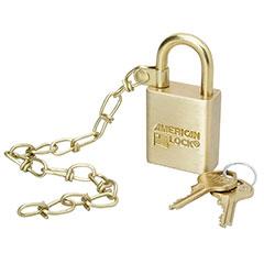 "SKILCRAFT® Solid Steel and Solid Brass Case Padlocks - 1"" - Keyed Alike"