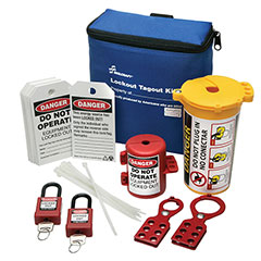 SKILCRAFT® Lockout Tagout Kit with Plug Lockouts