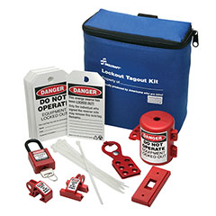 SKILCRAFT® Lockout Tagout Electrical Kit with Breaker Lockouts