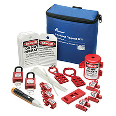 SKILCRAFT® Lockout Tagout Electrical Kit with Breaker and Plug Lockouts