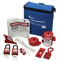 SKILCRAFT® Lockout Tagout Electrical Valve Kit - 29 Piece Kit