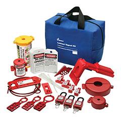 SKILCRAFT® Lockout Tagout Electrical Valve Kit - 39 Piece Kit