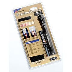 """SKILCRAFT® Aluminum Flashlight - 6-1/4"""" Long - LED Lamp, Includes 2 AA Batteries - Silver"""