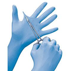 Smooth Nitrile Examination Powder-Free Gloves - Large