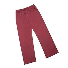 Mens Pajama Bottom - Large - Cranberry