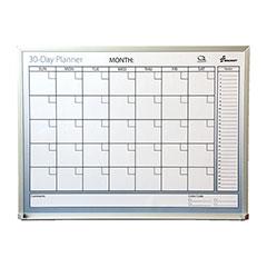 "Quartet®/SKILCRAFT® Dry Erase 30-Day Monthly Control Planner Boards - 24"" x 18"""