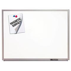 """Quartet®/SKILCRAFT® Magnetic Porcelain Dry Erase Board - 24"""" x 18"""" - Aluminum Frame"""