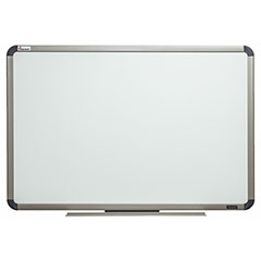 "Quartet®/SKILCRAFT® Total Erase® White Board - 24"" x 18"" - Euro Titanium Finish Aluminum Frame"