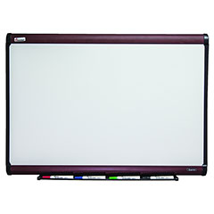 "Quartet®/SKILCRAFT® Magnetic Porcelain Dry Erase Board - 36"" x 24"" - Mahogany Finish Frame"