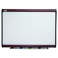 "Quartet®/SKILCRAFT® Magnetic Porcelain Dry Erase Board - 48"" x 36"" - Mahogany Finish Frame"
