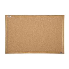 "Quartet®/SKILCRAFT® Natural Cork Bulletin Board - Oak Frame - 36"" x 24"""