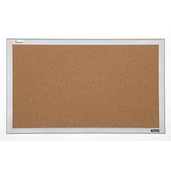 Quartet®/SKILCRAFT® Cubicle Cork Bulletin Board - Aluminum Frame