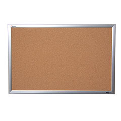 "Quartet®/SKILCRAFT® Natural Cork Bulletin Board - Aluminum Frame - 72"" x 48"""
