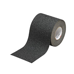 """SKILCRAFT® Peel-and-Stick Nonskid Tapes and Treads - Coarse - 6"""" x 30' - Black"""