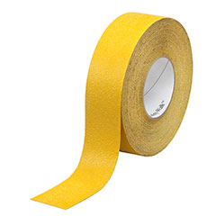 """SKILCRAFT® Peel-and-Stick Nonskid Tapes and Treads - General Purpose - 2"""" x 60' Roll - Yellow"""