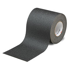 """SKILCRAFT® Peel-and-Stick Nonskid Tapes and Treads - General Purpose - 4"""" x 60' - Black"""