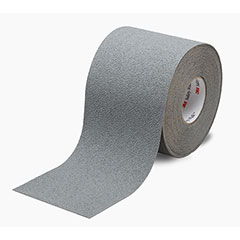 """SKILCRAFT® Peel-and-Stick Nonskid Tapes and Treads - Medium Resilient - 4"""" x 60' - Gray"""