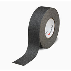 """SKILCRAFT® Peel-and-Stick Nonskid Tapes and Treads - General Purpose - 1"""" x 60' Roll - Black"""
