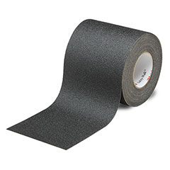 """SKILCRAFT® Peel-and-Stick Nonskid Tapes and Treads - General Purpose - 6"""" x 60' - Black"""