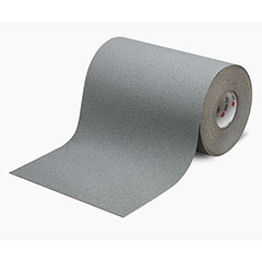 """SKILCRAFT® Peel-and-Stick Nonskid Tapes and Treads - Medium Resilient - 6"""" x 60' - Gray"""