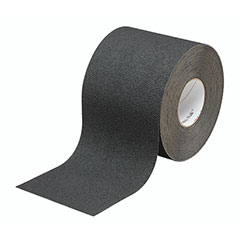 """SKILCRAFT® Peel-and-Stick Nonskid Tapes and Treads - Medium Resilient - 6"""" x 60' - Black"""