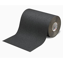 """SKILCRAFT® Peel-and-Stick Nonskid Tapes and Treads - Medium Resilient - 18"""" x 60' - Black"""