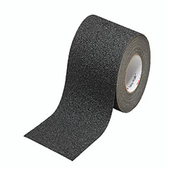 """SKILCRAFT® Peel-and-Stick Nonskid Tapes and Treads - Coarse - 2"""" x 30' Roll - Black"""