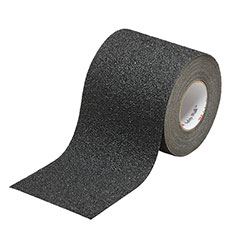 """SKILCRAFT® Peel-and-Stick Nonskid Tapes and Treads - Coarse - 1"""" x 30' Roll - Black"""