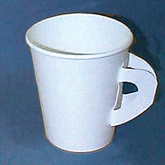Disposable Paper Cup - w/Handles - Hot Liquids - 8 oz