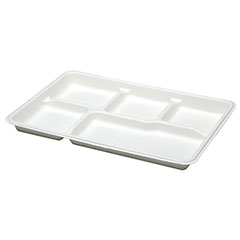 Mess Tray -5 Compartment - White