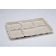 Mess Tray - 5 Compartment - Tan