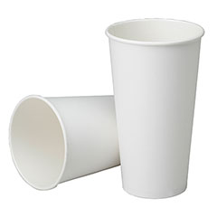 Disposable Paper Cup - Cold Beverage - Plastic Coated - 32 oz