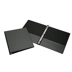 "Round Ring View Binders - 1/2"" Capacity - Black"
